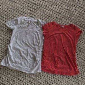 Set of two maternity tees / t-shirts